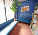 品川接骨院(横浜市)の待合室